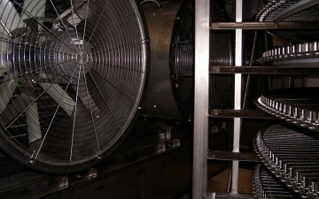 Ventilatoren im Spiralfroster